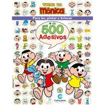 Livro - 500 ADESIVOS TURMA DA MONICA -