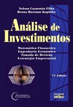 Livro - Análise de investimentos: matemática financeira, engenharia econômica, estratégia empresarial -