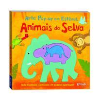 Livro - Arte pop-up em estêncil - Animais da selva -