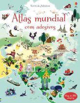 Livro - Atlas Mundial : Livro de adesivos -