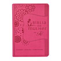 Livro - Bíblia da Mulher de Fé, NVI, Couro Soft, Rosa -
