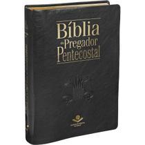 Livro - Bíblia do Pregador Pentecostal com índice digital - Capa couro sintético Preta nobre -