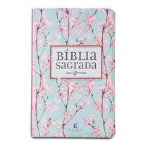 Livro - Bíblia NVI, Flexível, Tecido, Cerejeira, Leitura Perfeita -