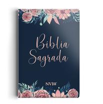 Livro - Bíblia NVI grande Novo Testamento - 2 cores capa especial rosas -