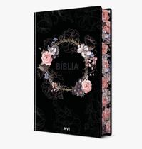 Livro - Bíblia Sagrada Flores Preta - NVI -