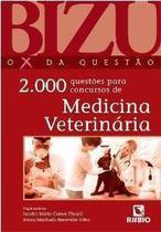 Livro Bizu De Medicina Veterinária - 2000 Questões - Novo - Rubio
