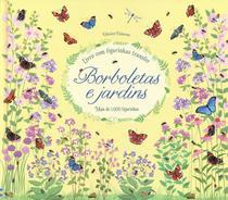 Livro - Borboletas e jardins : Livro com figurinhas transfer -