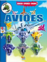 Livro - Brincar-aprender-colorir: aviões -