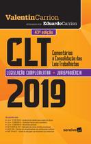 Livro - CLT : Comentários à consolidação das leis de trabalho - 43ª edição de 2019 -
