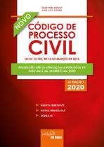 Livro - Código de Processo Civil 2020 - Mini -