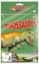 Livro - Colorir com Giz de Cera: Dinossauros -