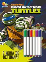 Livro - Colorir e atividades com canetinha: Ninja Turtles -