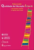 Livro - Consulta sobre qualidade da educação infantil -