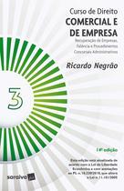 Livro - Curso de Direito Comercial e de Empresa - Vol. 3 - 14ª Edição de 2020 -