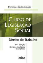 Livro - Curso De legislação social: direito do trabalho -