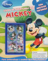 Livro de aventuras do Mickey - Com adesivos fofinhos - Dcl