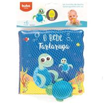 Livro de Banho e Mini Figura - O Bebê Tartaruguinha - Buba