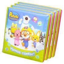 Livro de Banho Para Bebês Coleção Pororo o Pequeno Pinguim - Ciranda Cultural