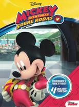Livro de colorir a aprender c/ quebra cabeca - mickey sobre rodas - Bicho Esperto