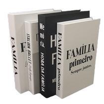 Livro Decorativo Porta Objetos 4 Caixas Organizadoras HO/FBR - FAP