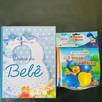 Livro Diário Do Bebê Azul Com Livrinho De Banho - Culturama