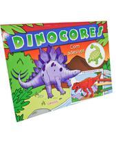 Livro - Dinocores com adesivos - tiranossauro Rex -
