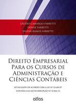 Livro - Direito Empresarial Para Os Cursos De Administração E Ciências Contábeis -