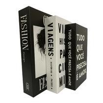 Livro Enfeite Porta Objetos 3 Caixas Organizadoras Fashion - AMG