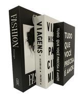Livro Enfeite Porta Objetos 3 Caixas Organizadoras Fashion - Decorativo - FAP