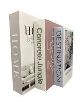 Livro Enfeite Porta Objetos 3 Caixas Organizadoras Hom- Decorativo - FAP