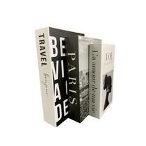 Livro Enfeite Porta Objetos 3 Caixas Organizadoras Luz - Decorativo - FAP