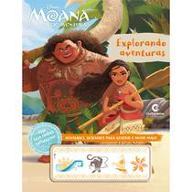 Livro - EXPLORANDO AVENTURAS - MOANA COM TATUAGENS -