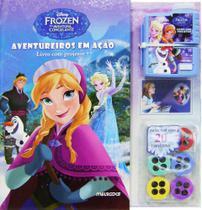 Livro - Frozen - Aventureiros em Ação – Livro com projetor