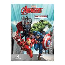 Livro Infantil Avengers Ler e Colorir Culturama -