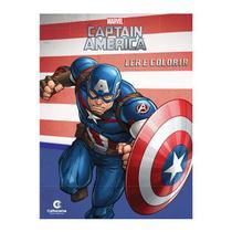 Livro Infantil Capitão América Ler e Colorir Culturama -