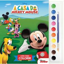 Livro Infantil Colorir a Casa do Mickey Aquarela - Dcl