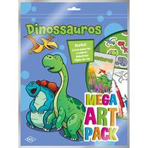 Livro Infantil Colorir Dinossauros Mega ART PACK - Dcl -