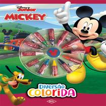 Livro Infantil Colorir Mickey Cores Diversao Colorida - Gna -