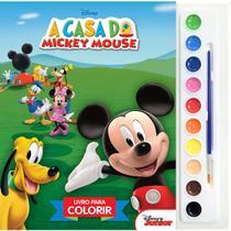 Livro Infantil Colorir Mickey Mouse Aquarela - Planeta Criança