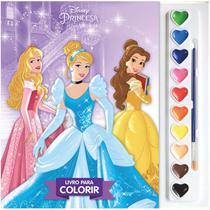 Livro Infantil Colorir Princesas Aquarela - Dcl -