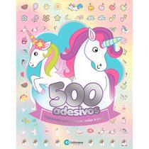 Livro infantil colorir unicórnios 500 adesivos 44pgs - GNA