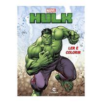 Livro Infantil Hulk Ler e Colorir Culturama -