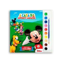 Livro Infantil Para Colorir - A Casa Mickey Mouse - Dcl