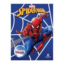 Livro Infantil Spider Man Ler e Colorir Culturama -
