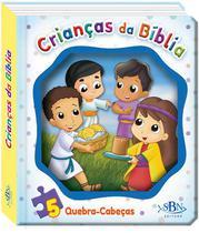 Livro - Janelinha lenticular bíblica c quebra-cabeças: Crianças da bíblia -