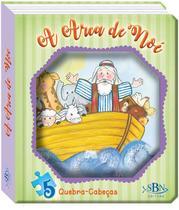 Livro - Janelinha lenticular bíblica com quebra-cabeças: Arca de Noé -