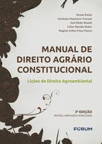Livro - Manual de Direito Agrário Constitucional - Lições de Direito Agroambiental