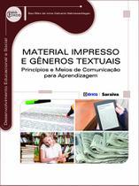 Livro - Material impresso e gêneros textuais - Princípios e meios de comunicação para aprendizagem
