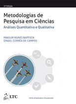 Livro - Metodologias de Pesquisa em Ciências: Análise Quantitativa e Qualitativa -