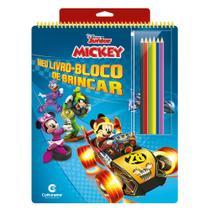 Livro - MEU LIVRO-BLOCO DE BRINCAR MICKEY -
